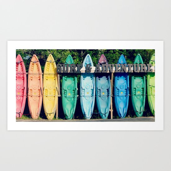 """Say """"YES"""" to Adventure Art Print"""