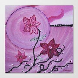 Fleurs et ruban Canvas Print