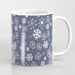 Snowflake Snowstorm In Midnight Blue Coffee Mug