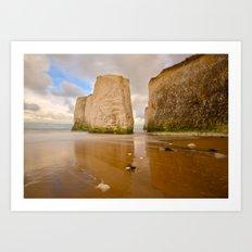 Botany Bay Kent Coast England Art Print
