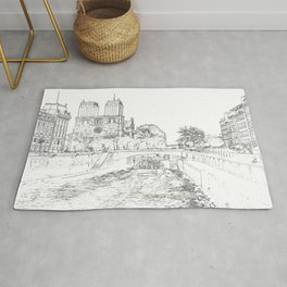 Illustration of Notre Dame de Paris Rug