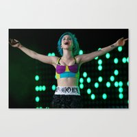 hayley williams Canvas Prints featuring Hayley Williams by Jesse Conway