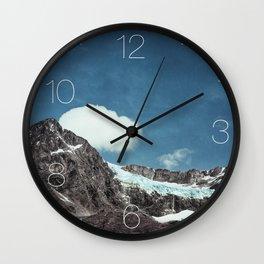 mountains and ice - Fellaria Glacier Italy Wall Clock