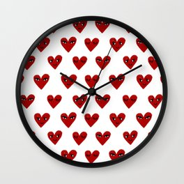 Heart love valentines day gifts hearts with faces cute valentine Wall Clock