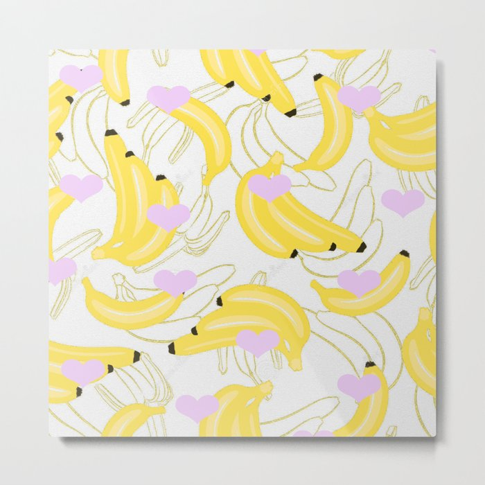 Bananas with love  Metal Print