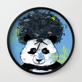 Mad Panda Wall Clock