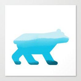 Blue Bear - Wildlife Series Canvas Print