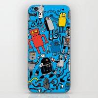 robots iPhone & iPod Skins featuring ROBOTS! by Chris Piascik