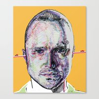 jesse pinkman Canvas Prints featuring Jesse Pinkman by Nadyia Duff