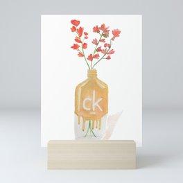 Flower vase-Watercolor Mini Art Print