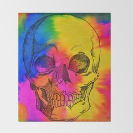 Ode To Skully Throw Blanket