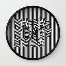 Mono Merry Xmas Wall Clock