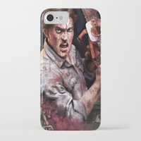 evil dead iPhone & iPod Cases featuring Ash Evil Dead by John Mungiello