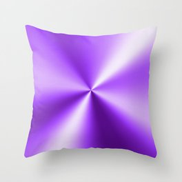 Metallic Purple Stainless Steel Print Throw Pillow