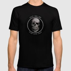 Keep Smiling when your dead II Black X-LARGE Mens Fitted Tee
