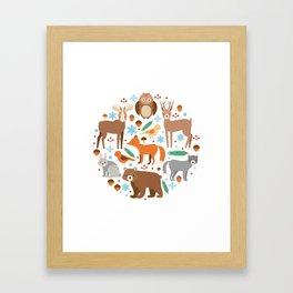 Cartoon Cute Animals Framed Art Print