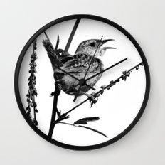 Sedge Wren Wall Clock