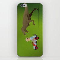 jurassic park iPhone & iPod Skins featuring Jurassic Park by DWatson
