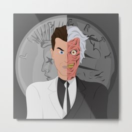 Two-Face Metal Print