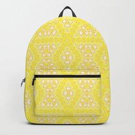 Yellow, ethnic ornament Backpack