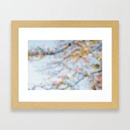 Autumn Bokeh Framed Art Print