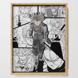 Trunks manga version anime collab dragon ball super Serving Tray