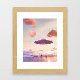 Take me back home Framed Art Print