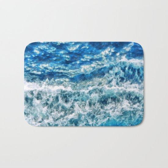Sea foam waves Bath Mat