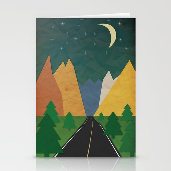 Somewhere going Nowhere Stationery Cards