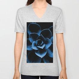 Dark Blue Succulent Plant #decor #society6 #buyart Unisex V-Neck