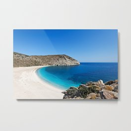 Zorgos is definitely the most beautiful beach in Andros island, Greece Metal Print