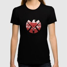 The Captain (SHIELD) Womens Fitted Tee MEDIUM Black