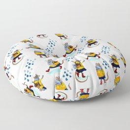 Rainy school day Floor Pillow