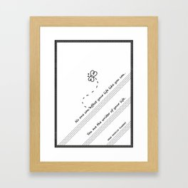The Writer Of Your Life Framed Art Print