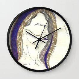 Blue Lady Wall Clock