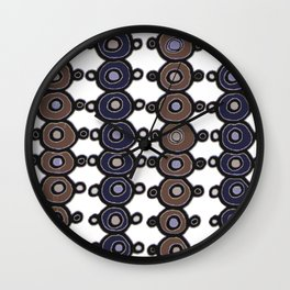 Circles up and down Wall Clock
