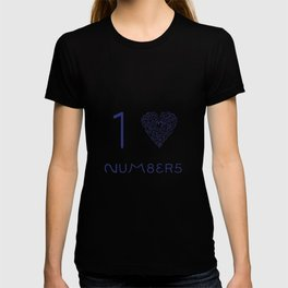 I heart Numbers T-shirt