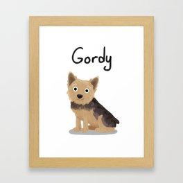 """Custom Artwork, """"Gordy"""" Framed Art Print"""