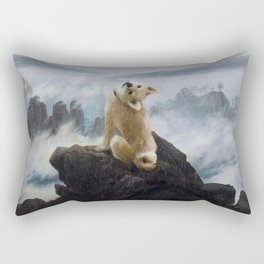 The Wanderer Above the Sea of Doge Rectangular Pillow