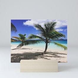 Paradise Palm Tree Honeymoon Beach Mini Art Print
