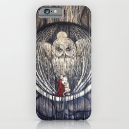 Embrace Fear // Little Red Riding Hood Fairy Tale Wolf Girl Wolves Owl Moon Night Dark Forest Woods iPhone Case