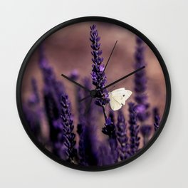 Lavender Serenade Wall Clock