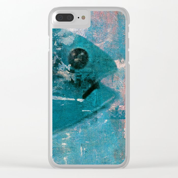 Fish Head 1 Clear iPhone Case