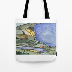 Large Lake Landscape Tote Bag