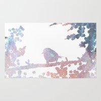 birdy Area & Throw Rugs featuring Birdy by Natashia Lee