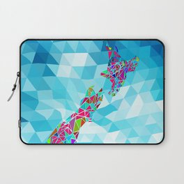 New Zealand Map : Square Laptop Sleeve