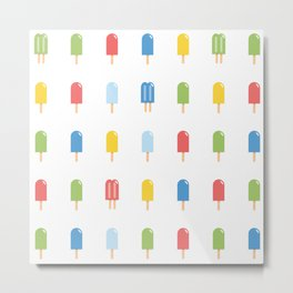 Popsicle Pattern - Bright #426 Metal Print