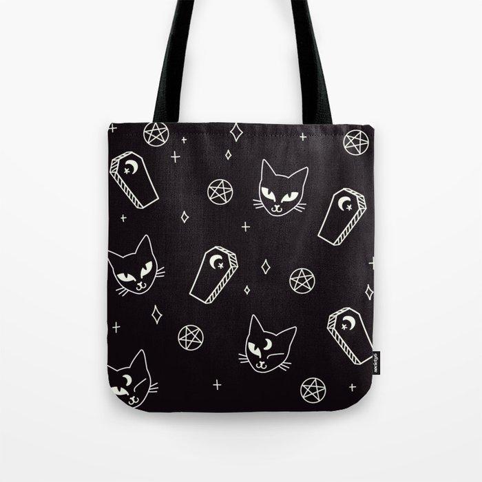 Cute Goth Kitties & Coffins Tote Bag