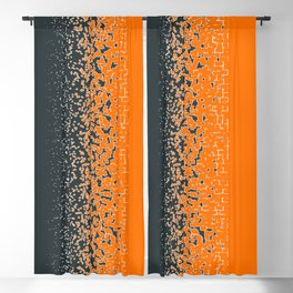 Shredded ORANGE Blackout Curtain