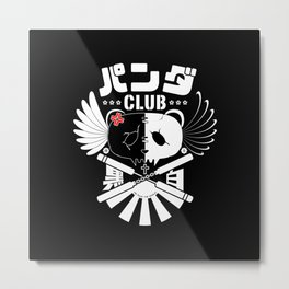 Panda Club Logo Design (White) Metal Print